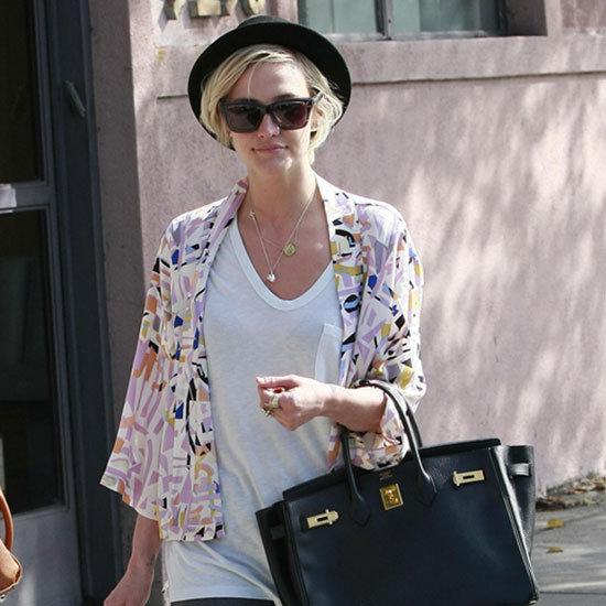 Ashlee Simpson Geometric Kimono Wrap