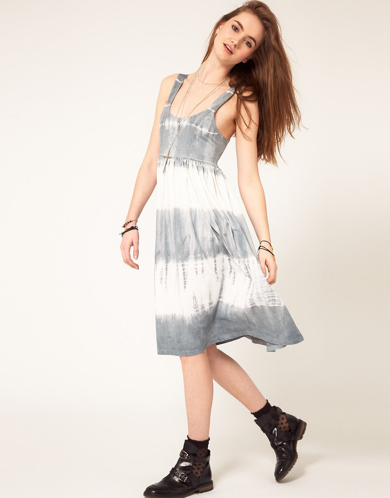 Embrace a little boho-meets-'90s-cool with this tie-dyed midi.  Asos Midi Summer Dress in Tie Dye ($49)