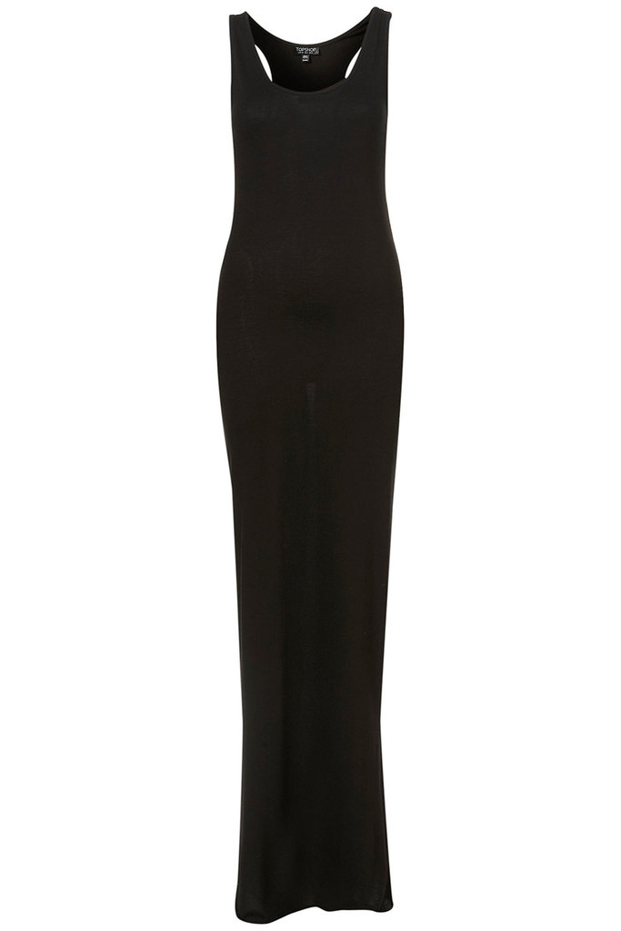 Now here's the kind of basic we could live in all season.  Topshop Racer Strappy Maxi Dress ($36)