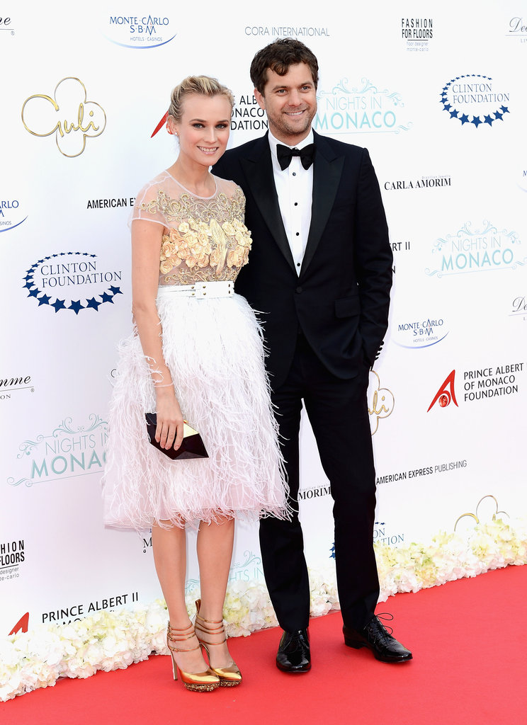 Diane and Josh made a gorgeous entrance at the Nights in Monaco reception, Diane in an ultraglamorous feather-skirted Prabal Gurung confection.