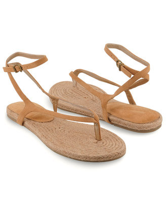 With an espadrille bottom and faux-suede straps, these neutral sandals are an ideal pick for vacations. They'll literally go with everything.  Forever 21 Espadrille Thong Sandals ($20)