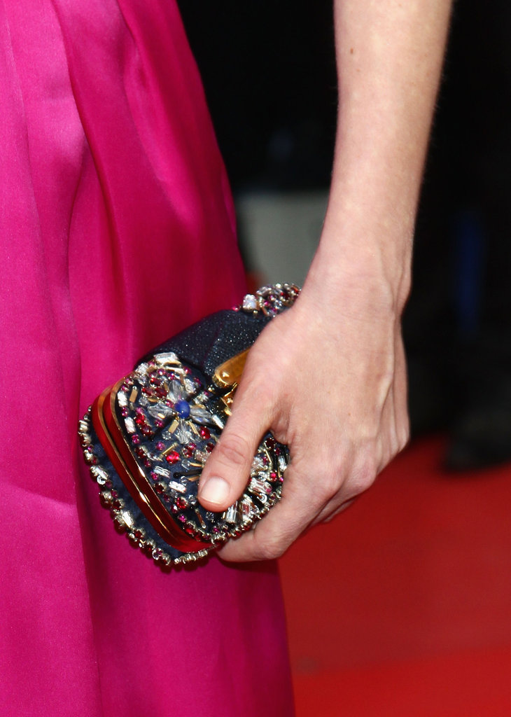 Kirsten Dunst's Louis Vuitton minaudiere was the perfect accent piece.