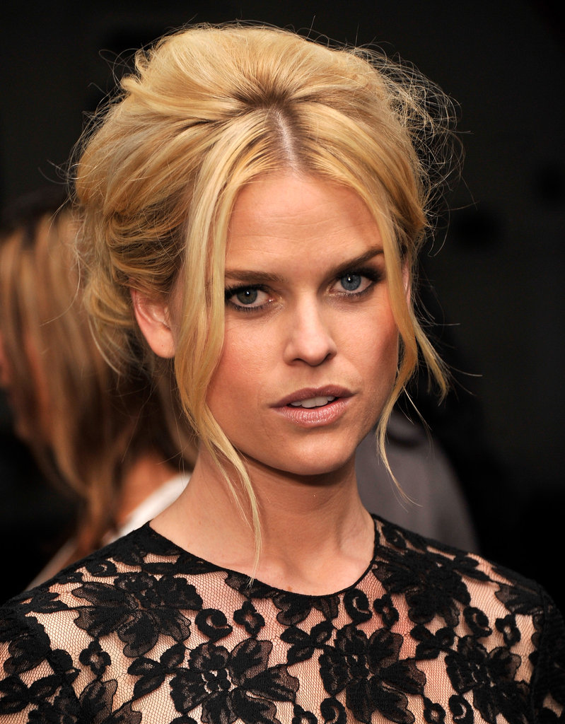 Alice Eve wore her hair up for the Men in Black III premiere in NYC.