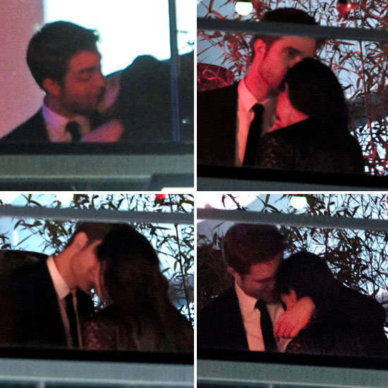 Robert Pattinson and Kristen Stewart Kiss at Her Cannes Afterparty