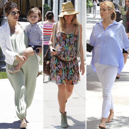 Draw Pregnancy Styling Inspiration From These Trendsetting And Eva Mendes 39 S Flawless Summer