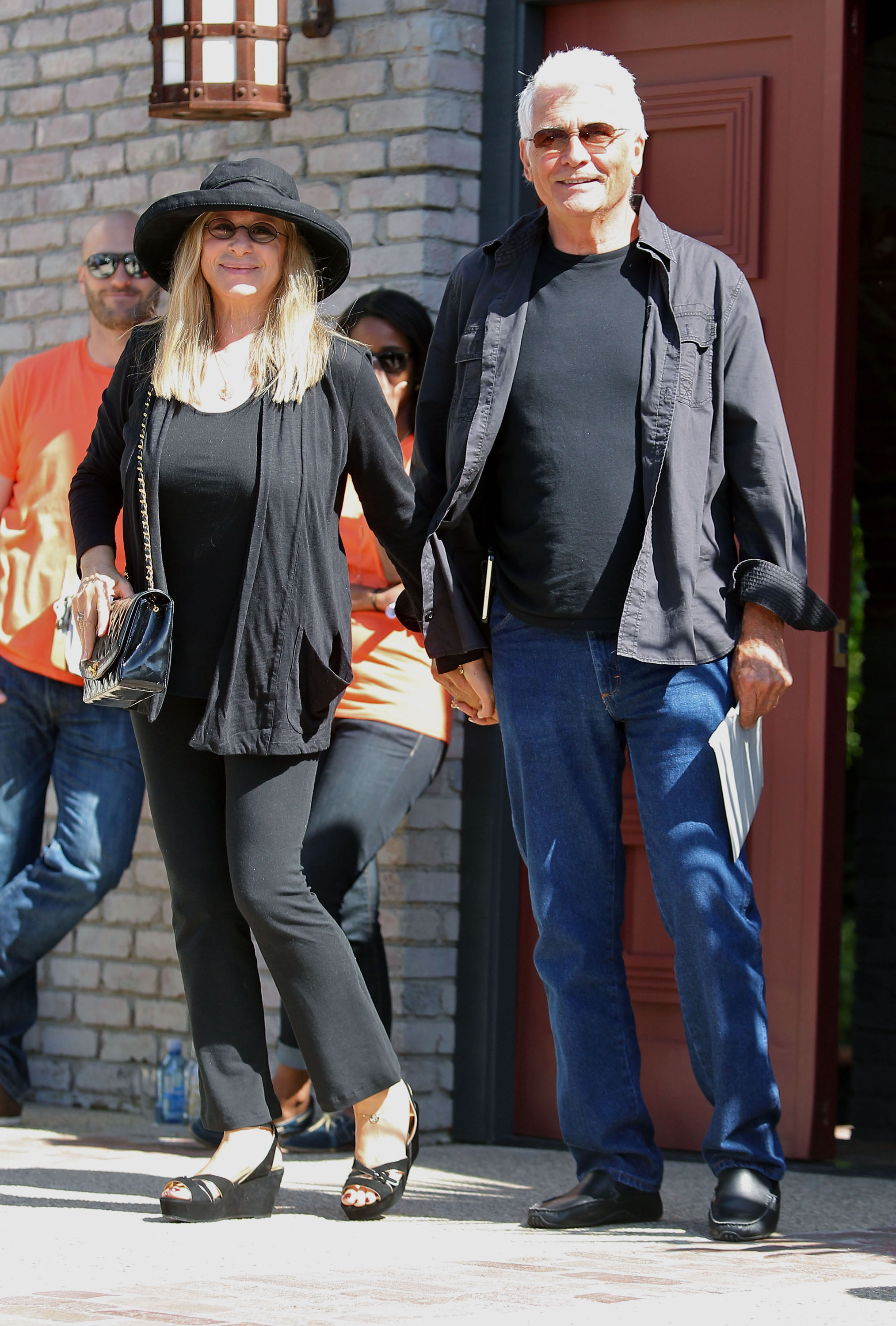 Barbra Streisand and James Brolin were attendees at a Memorial Day party at Joel Silver's house in LA.