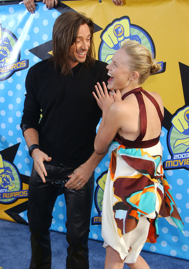 Kate Bosworth joked around with Hugh Jackman during the 2003 MTV Movie Awards.