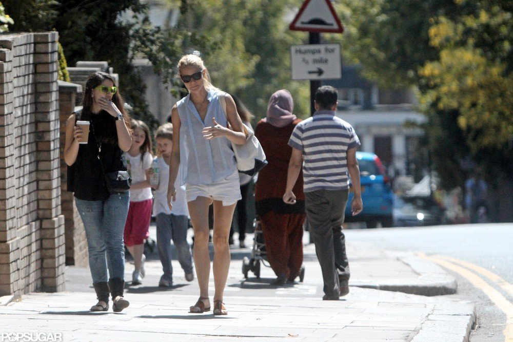 Gwyneth Paltrow wore a pair of white shorts and took a walk in London.