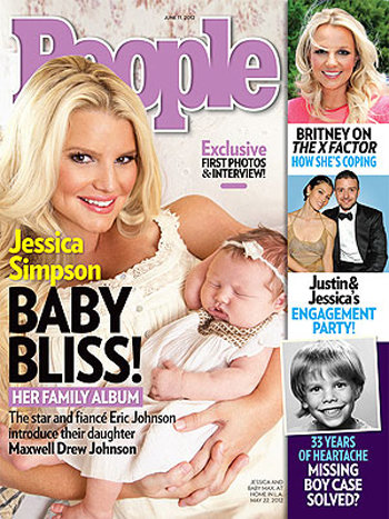 The first images of Jessica Simpson's daughter, Maxwell Johnson, are in this week's People.