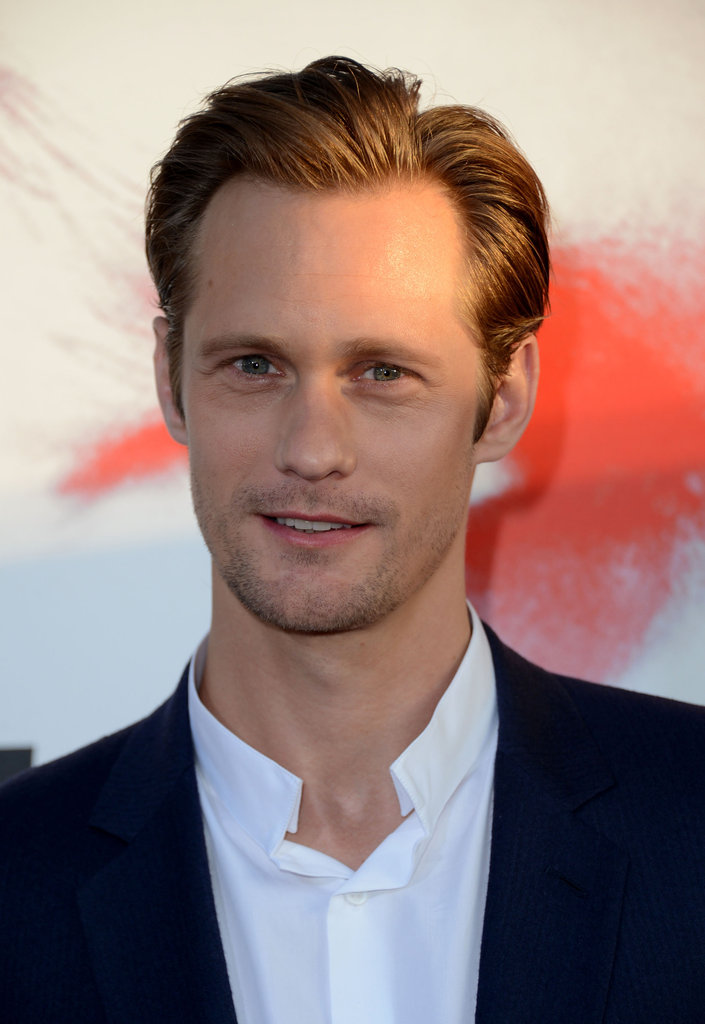 Alexander Skarsgard flashed his blue eyes for the camera at the premiere.