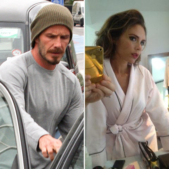 David Beckham Works Up a Sweat While Victoria Gets Glam For a Photo Shoot
