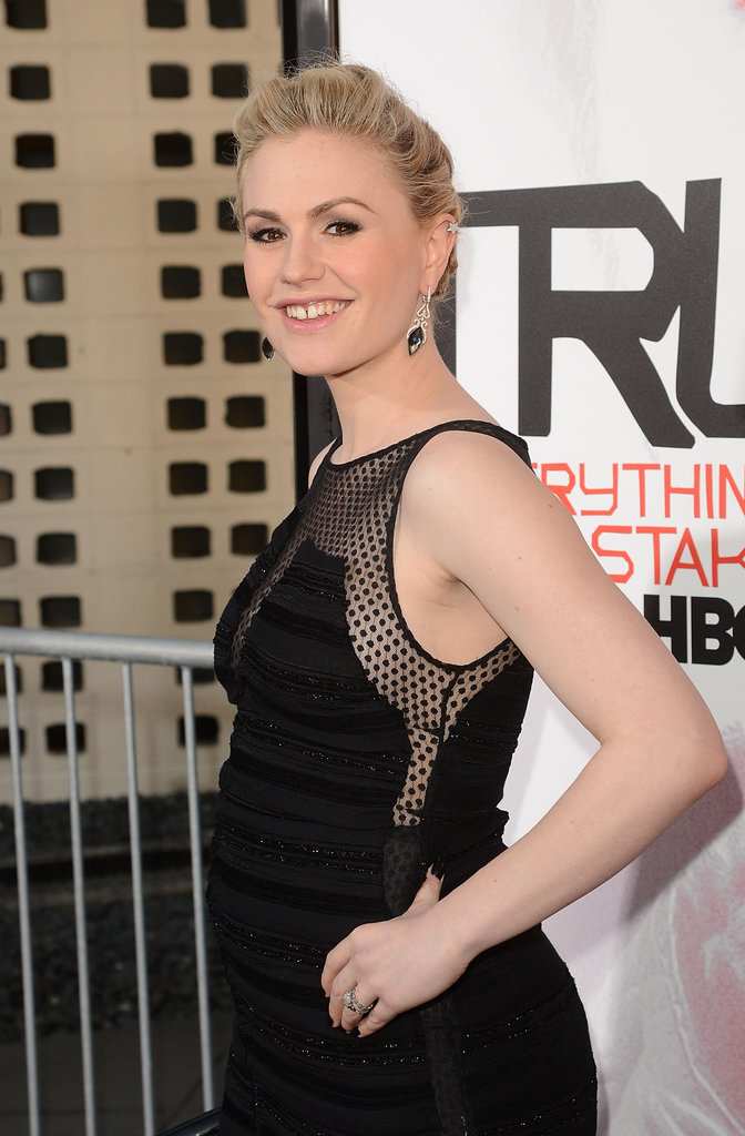 Anna Paquin was all smiles at the premiere in Hollywood.