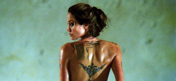 Angelina Jolie stripped down for 2008's Wanted. Photo courtesy of Universal