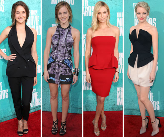 Best Dressed Celebrity at the 2012 MTV Movie Awards: Charlize Theron, Emma Stone, Emma Watson or Shailene Woodley?