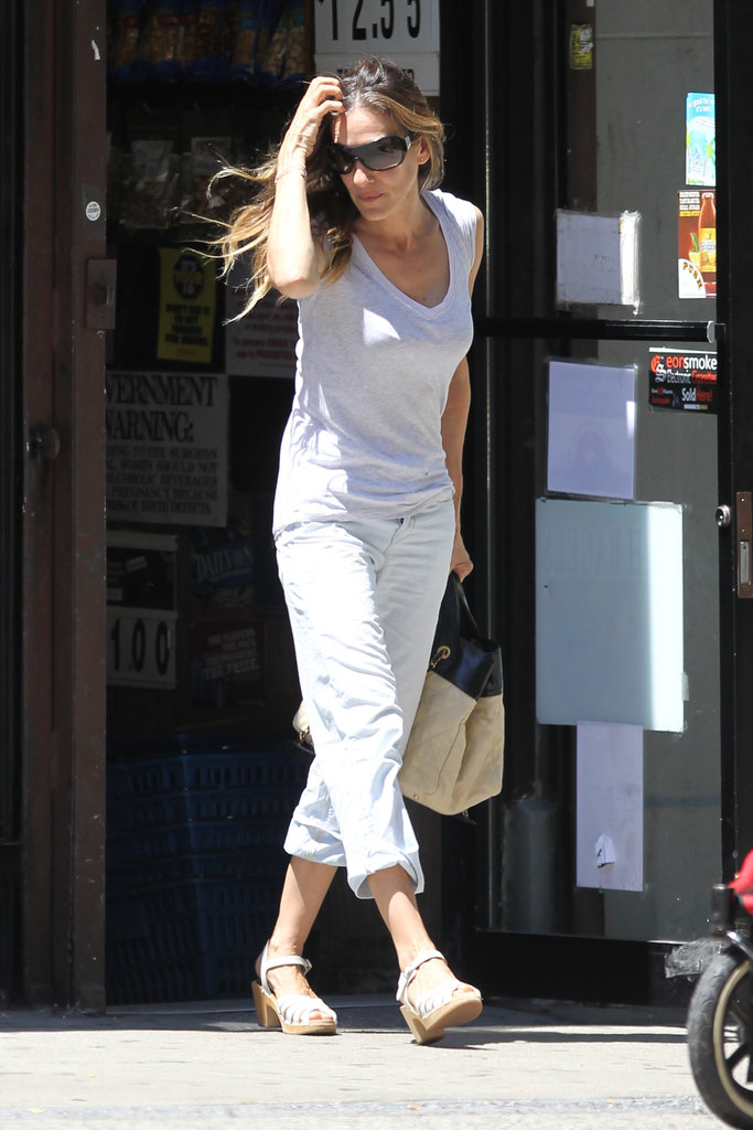 Sarah Jessica Parker ran errands in NYC wearing all white.