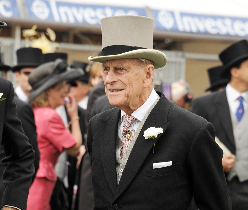 Prince Philip wore a top hat to the derby.
