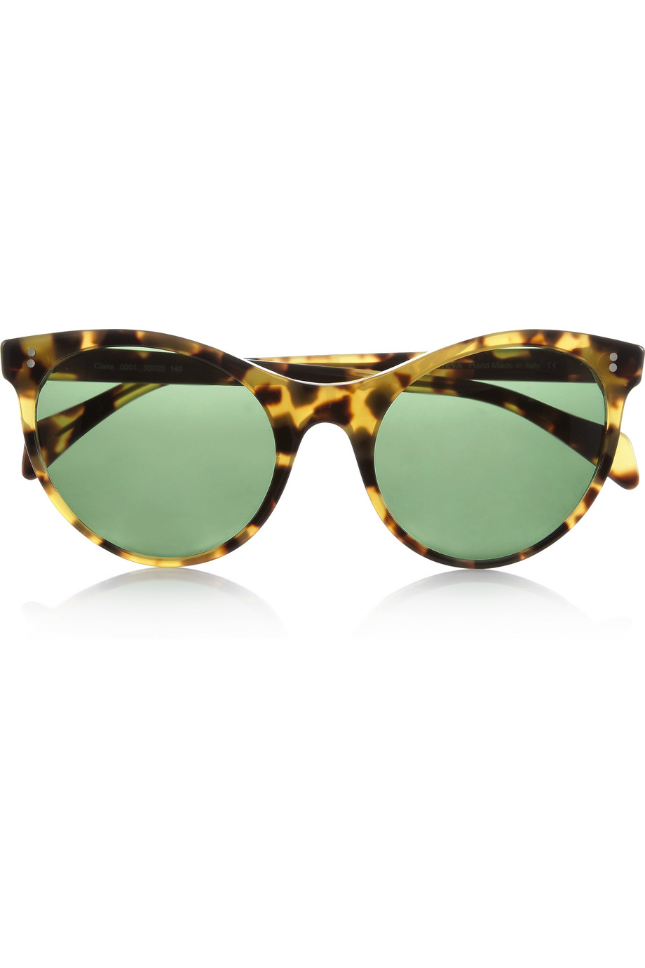 We love a great pair of shades like these to give instant glam on the go.  Illesteva Claire Cat Eye Tortoiseshell Acetate Sunglasses ($220)