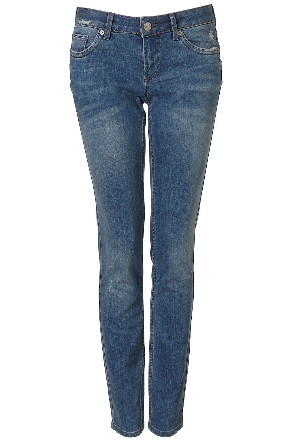 Denim is always essential. Throw these on for the plane ride for starters, and if all else fails, you'll wear them again and again on your trip; just change up your accessories.  Topshop Moto Mid Stone Baxter Jeans ($80)
