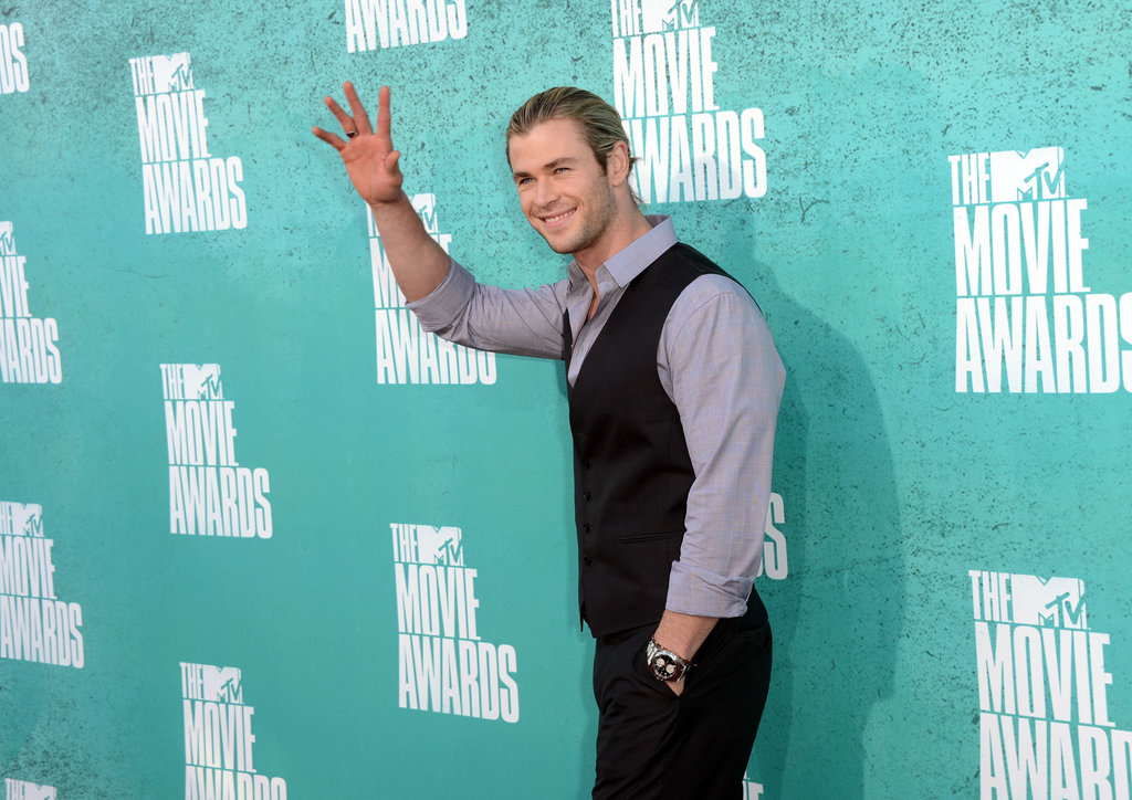 Chris Hemsworth Flashes a Handsome Smile at the MTV Movie Awards