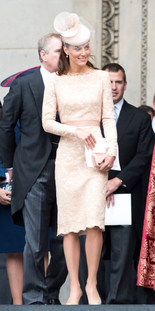Kate's ladylike dress was a perfect pick for the occasion — the body-skimming fit kept it youthful, and the delicate lace finish felt utterly femme and lovely.