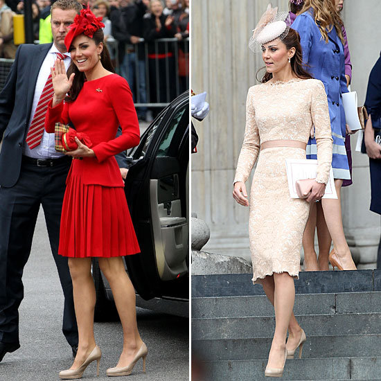 Kate Middleton Diamond Jubilee Red McQueen Dress