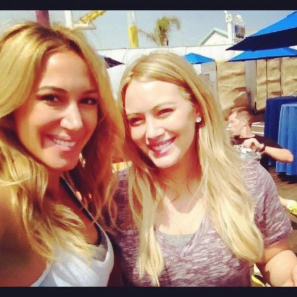 Haylie and Hilary Duff took a spin class for charity. Source: Twitter user HaylieK