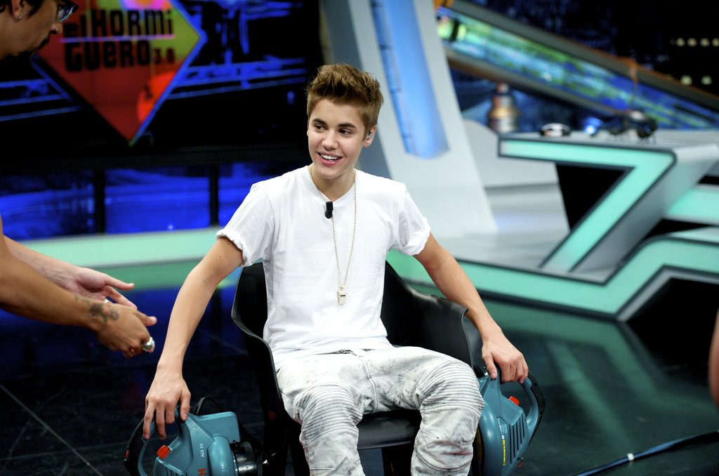 Justin Bieber took a seat on the set ofEl Hormiguero