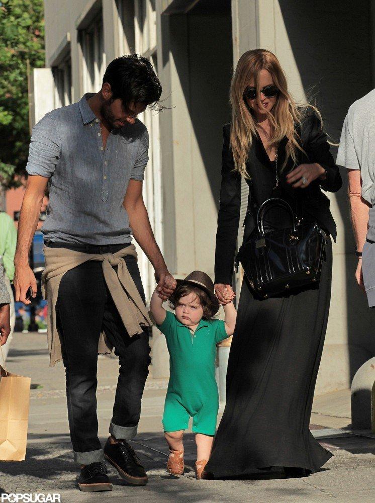 Skyler Berman held hands with Rachel Zoe and Joey Maalouf in NYC.
