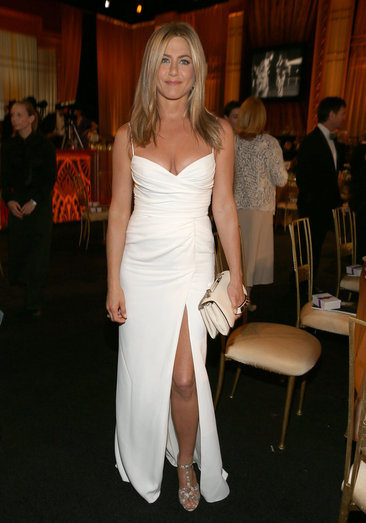 Jennifer Aniston wore Burberry to an AFI gala.
