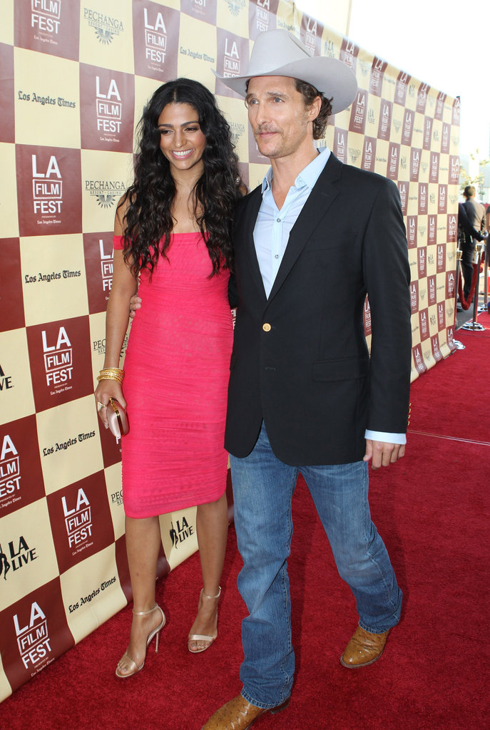Matthew McConaughey channeled his country side with Camila Alves on his arm at the LA Film Festival in June 2011.