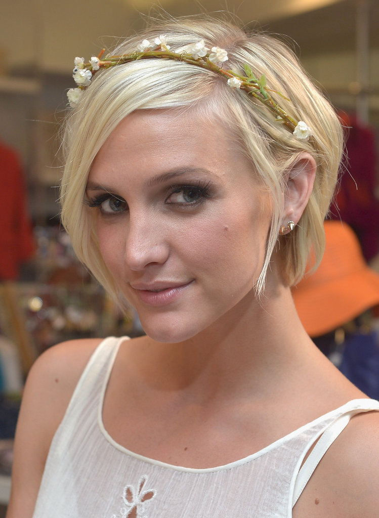 Ashlee Simpson rocked a hippie-chic look to the launch party in Beverly Hills.