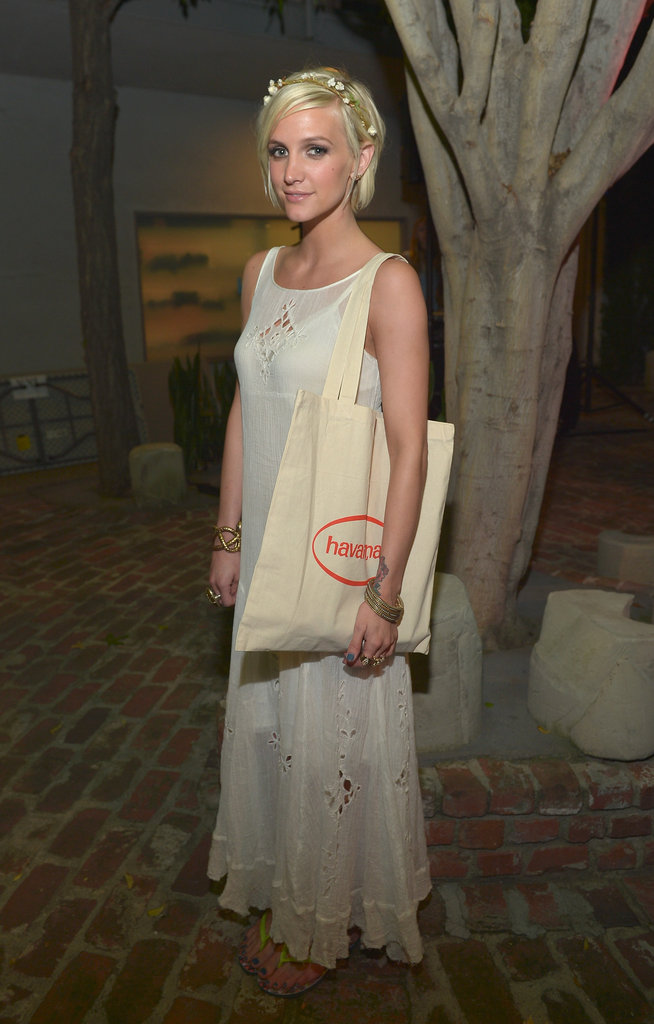 Ashlee Simpson hosted the Missoni Havaianas launch party in Beverly Hills.