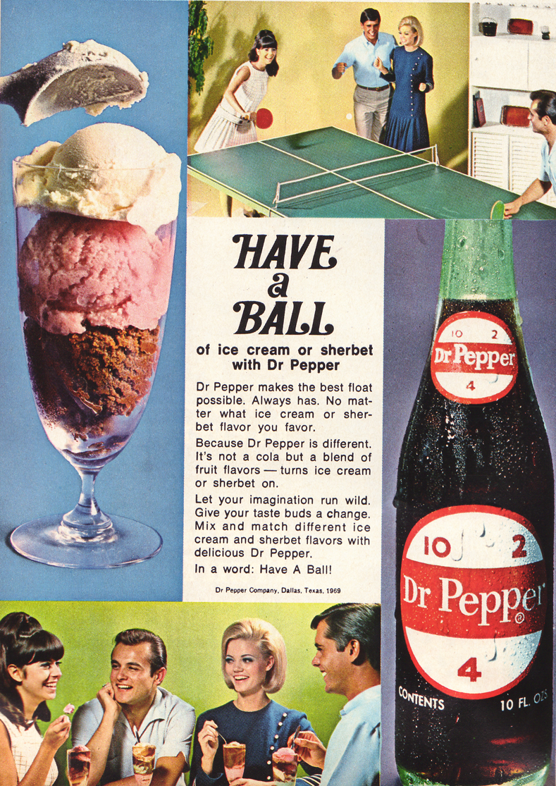 Dr. Pepper floats and ping-pong — sounds like an awesome Summer day to me!