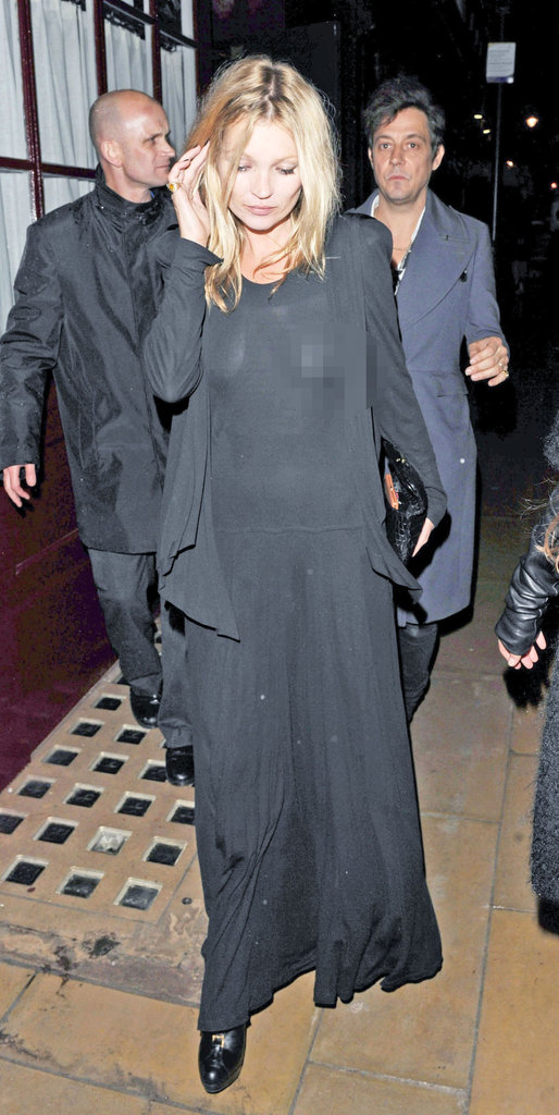 Kate Moss and Jamie Hince headed home from a night out in London.