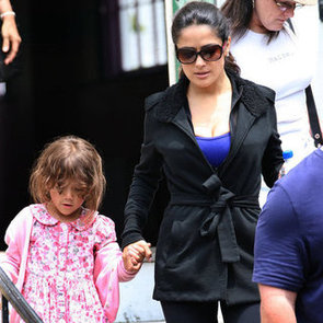 Salma Hayek Pictures on Grown Ups 2 Set With Valentina