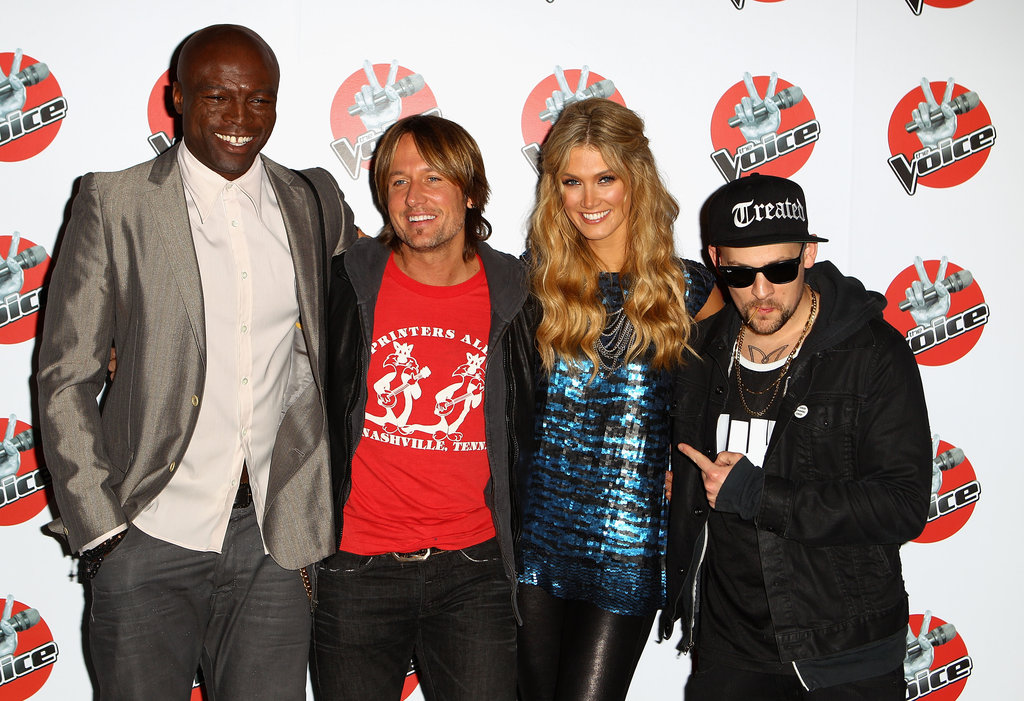 Seal, Keith Urban, Delta Goodrem and Joel Madden