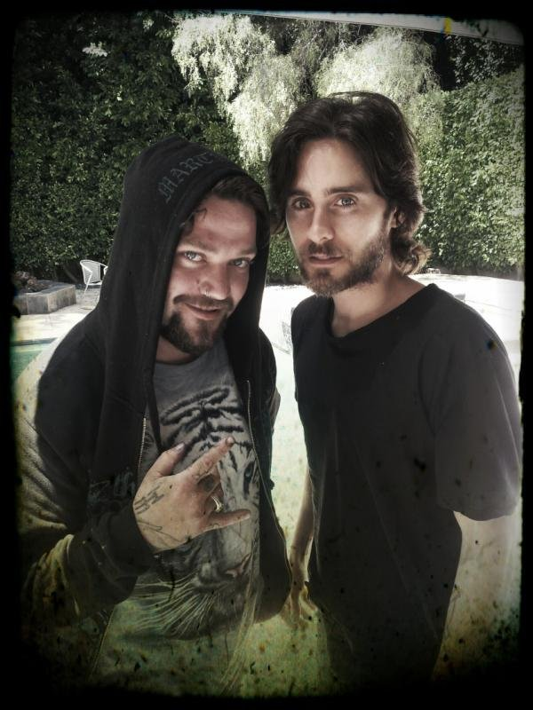 Bam Margera spent some time in LA with Jared Leto. Source: Twitter user BAM_MARGERA