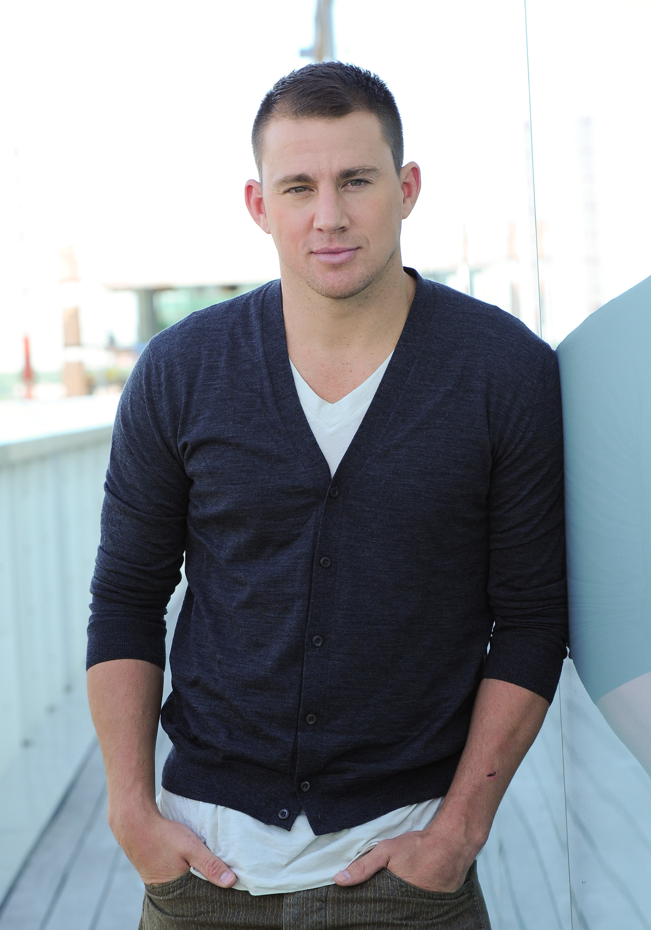 Channing Tatum posed for a portrait at the Thompson Hotel ... Channing Tatum