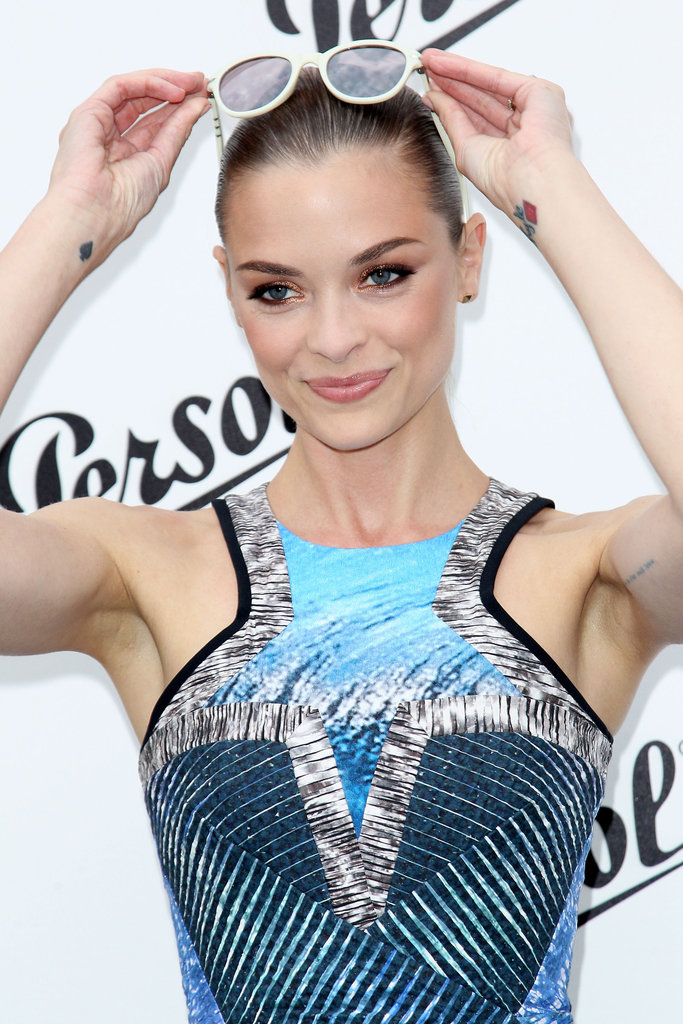Jaime King showed off her sunglasses at the Persol Magnificent Obsessions event in NYC.