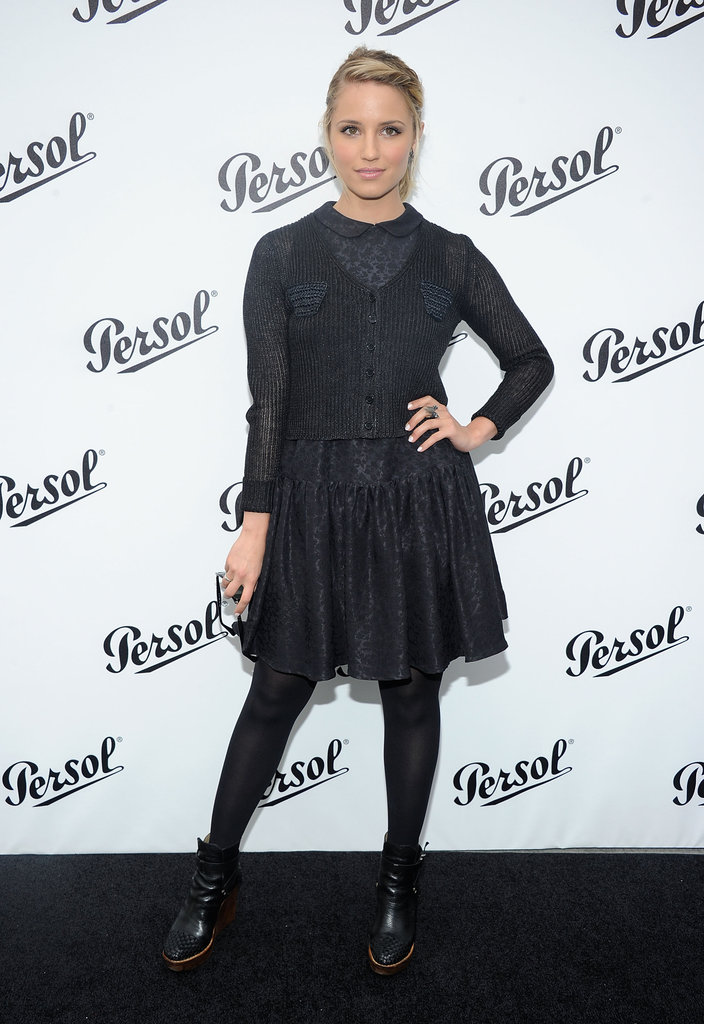 Dianna Agron struck a pose at the Persol Magnificent Obsessions event in NYC.