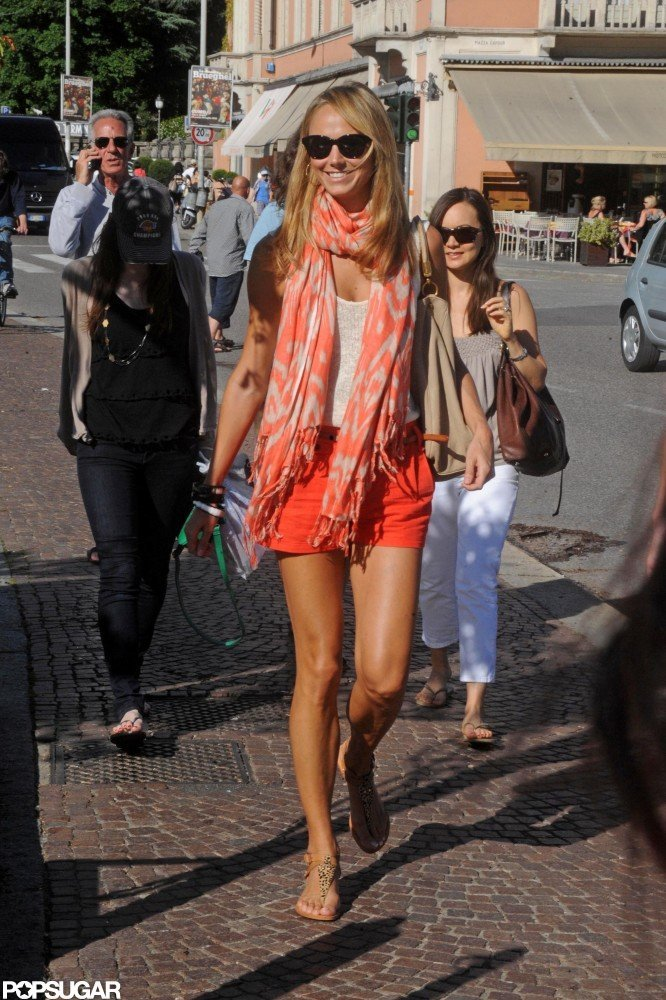 Stacy Keibler looked ready for the start of Summer while visiting Lake Como in June.