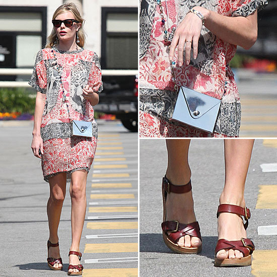 Kate Bosworth Isabel Marant Dress and Sandals