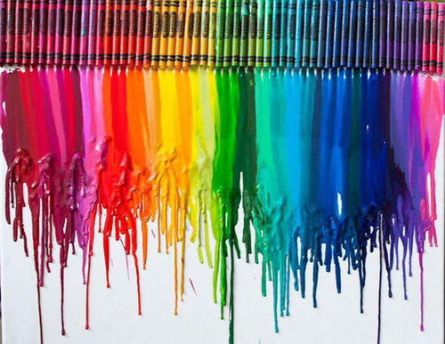 Create a Cool Piece of Crayon Art