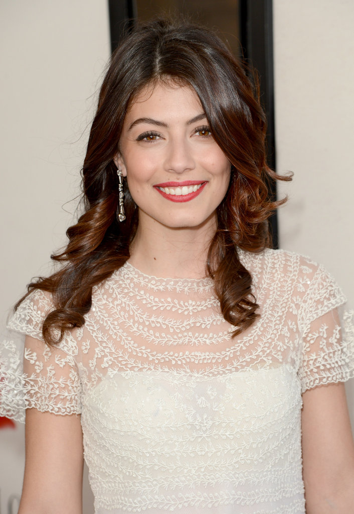 Alessandra Mastronardi smiled at the LA premiere of To Rome With Love.