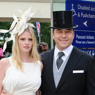Lara Stone and Husband David Walliams Looking Stylish and Cute at the Royal Ascot Races