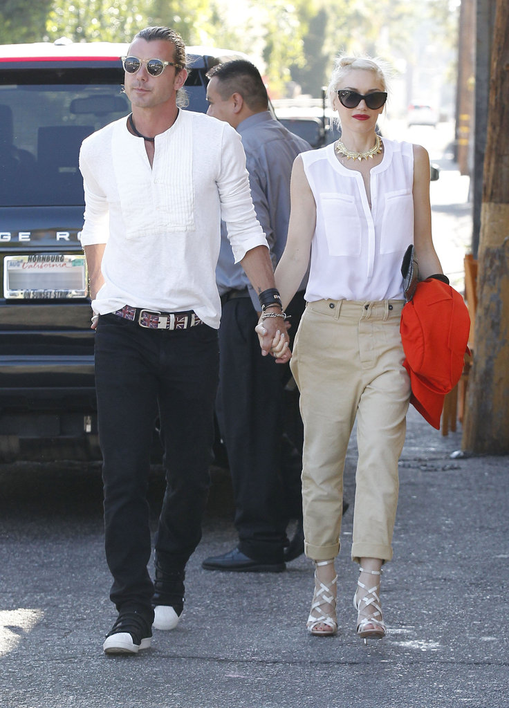Gwen Stefani and husband Gavin Rossdale were hand in hand for a Father's Day date night in LA.