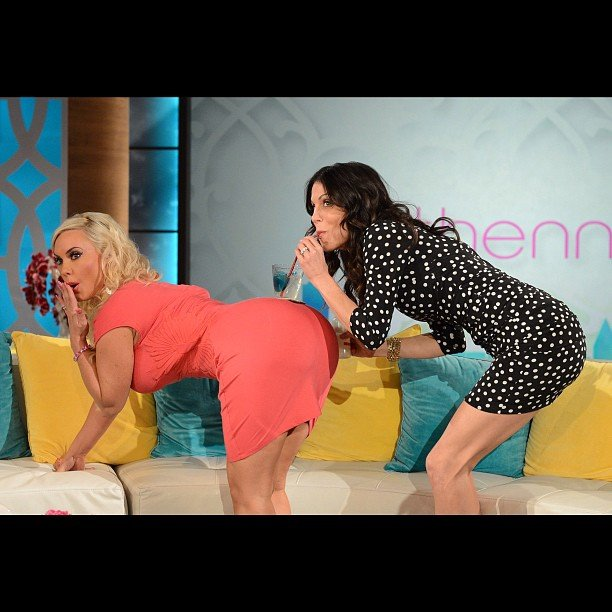 Bethenny Frankel got silly during her talk show with special guest Coco. Source: Instagram user bethennyfrankel