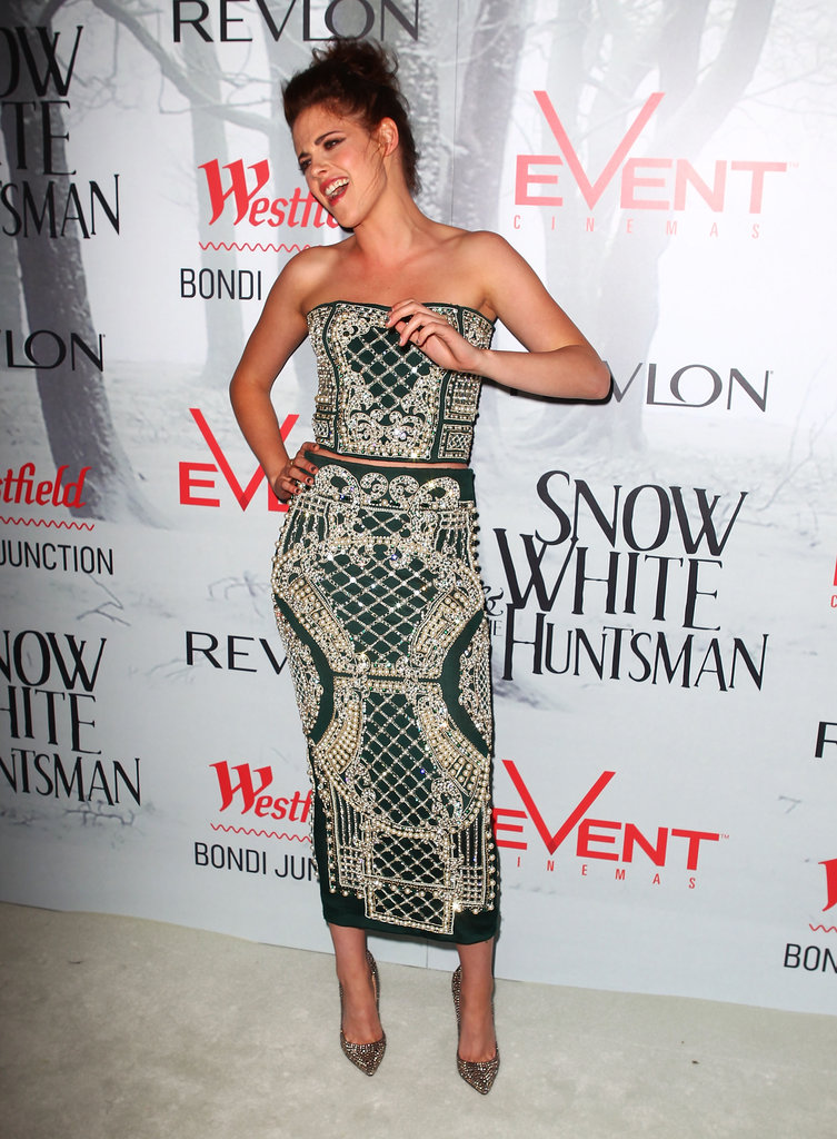Kristen Stewart attended a Snow White and the Huntsman premiere in Australia.