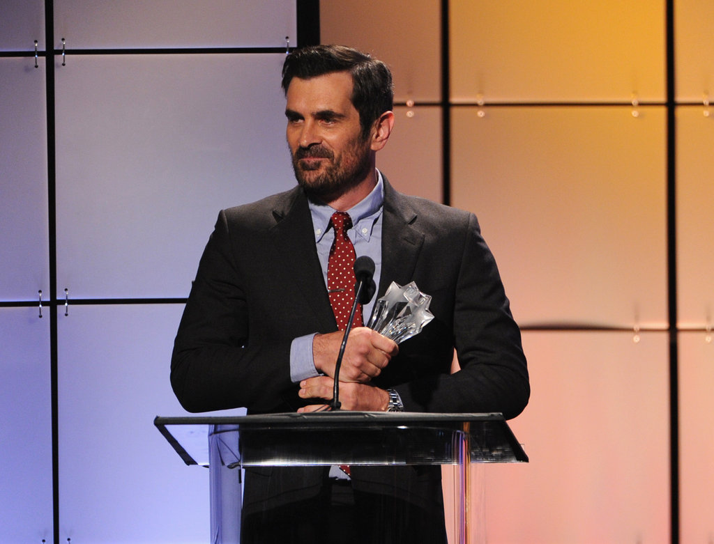 Ty Burrell took the stage to accept an award at the Critics' Choice Television Awards in LA.
