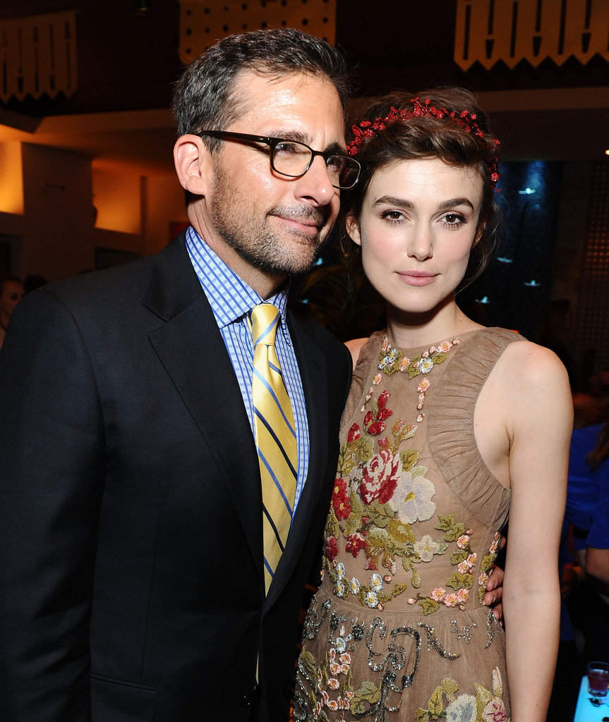 Steve Carell and Keira Knightley hung out at the afterparty of the LA premiere of Seeking a Friend For the End of the World.